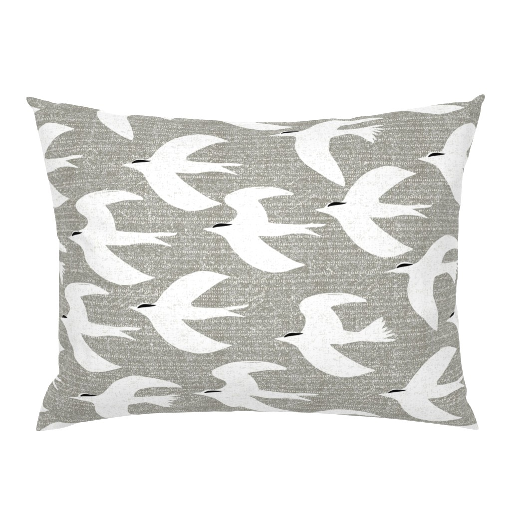 Campine Pillow Sham featuring arctic tern by ottomanbrim