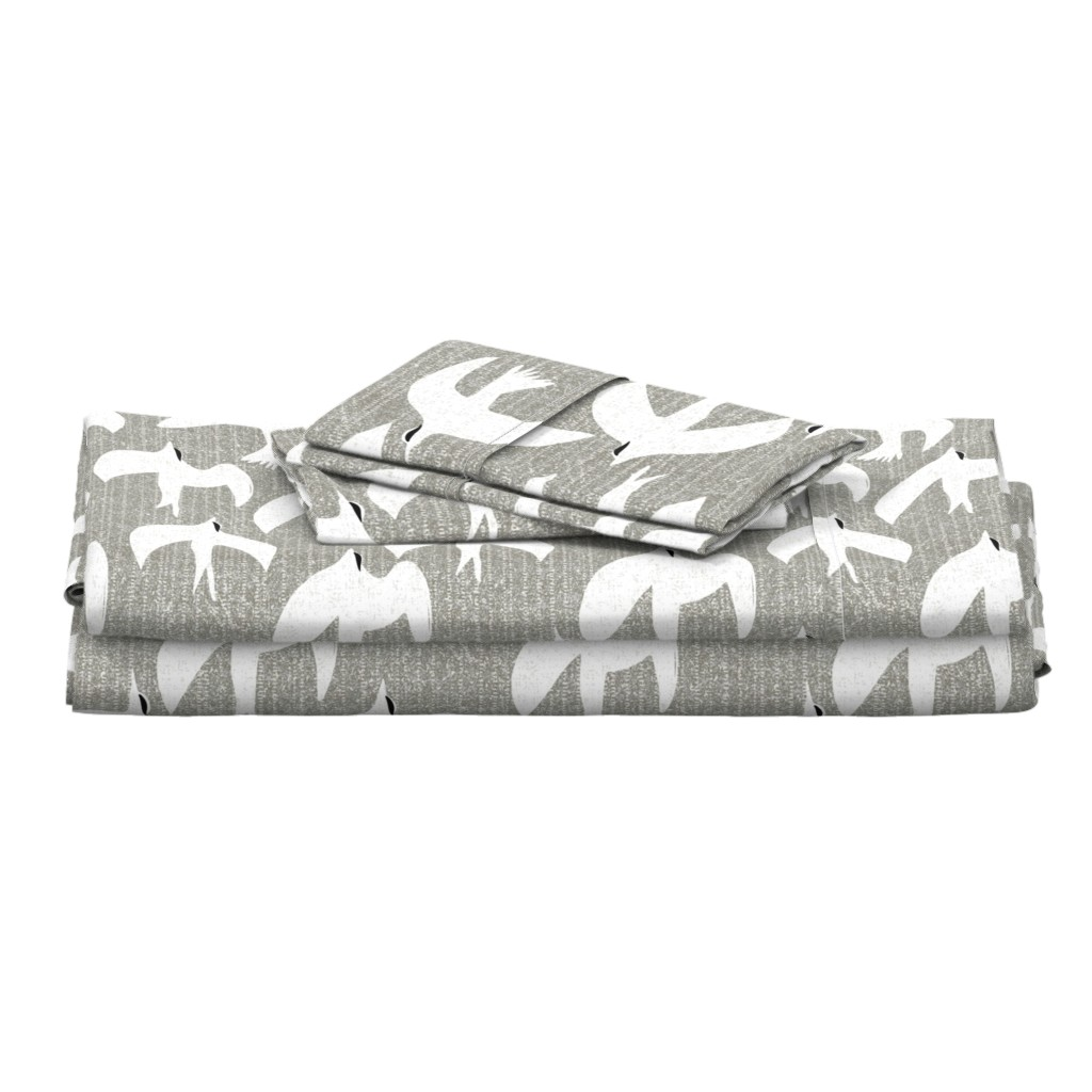 Langshan Full Bed Set featuring arctic tern by ottomanbrim