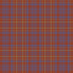 "Campbell of Loudoun plaid from portrait, 7"" weathered"