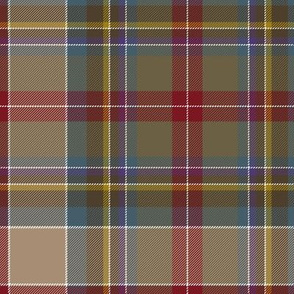 "Prince Charles Edward tartan, 18th century, 10"" weathered"