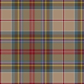 "Prince Charles Edward tartan, 18th century, 6"" weathered"