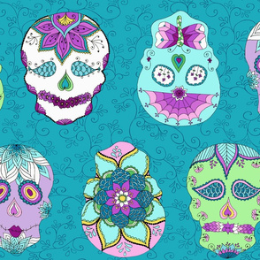 Skulls Turquoise