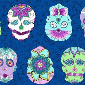 Skulls Blue