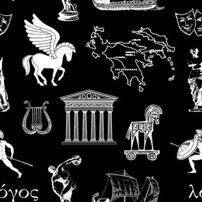 Ancient Greece // Black // Small