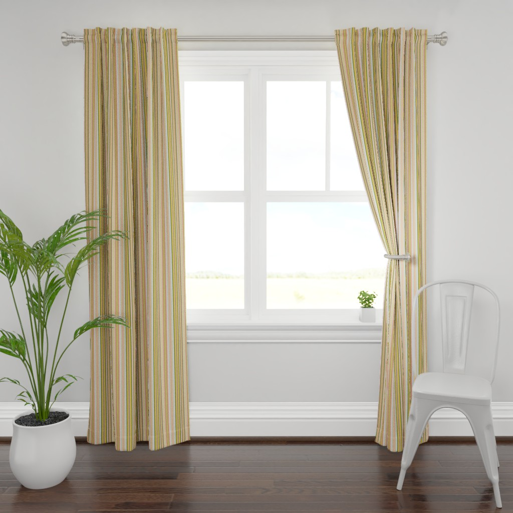 Plymouth Curtain Panel featuring Pink gray sand stripes by palusalu
