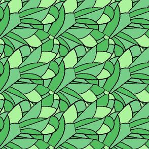 Fractal Wings Green