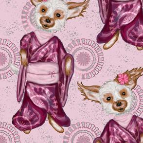 Pink Sakura Dog Large