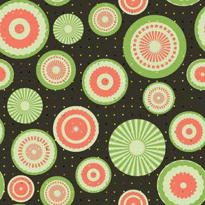 Pastel Circles (green and pink)
