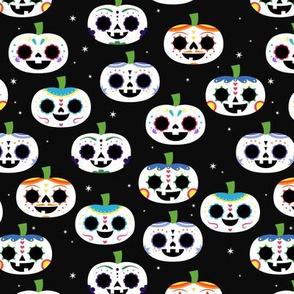 Sugar Skull Pumpkins