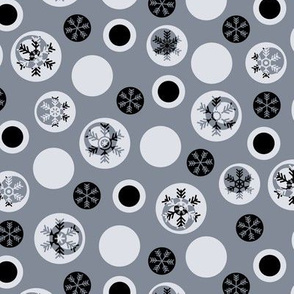 Circled Frosty Mod Grey Black