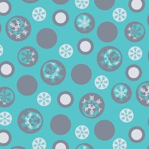 Circled Frosty Mod Blue Grey