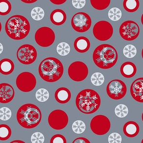 Circled Frosty Mod Grey Red