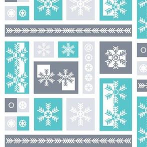 Squared Frosty Mod Grey Blue White
