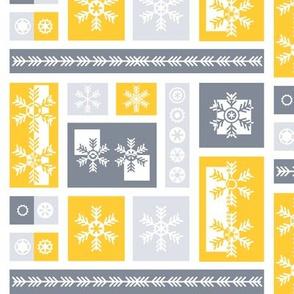 Squared Frosty Mod Grey Yellow White