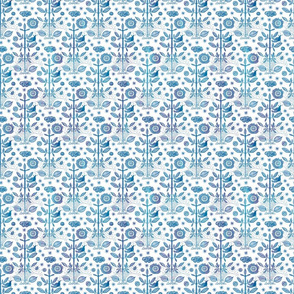 GOOD FORTUNE - MINI BLUE DAMASK