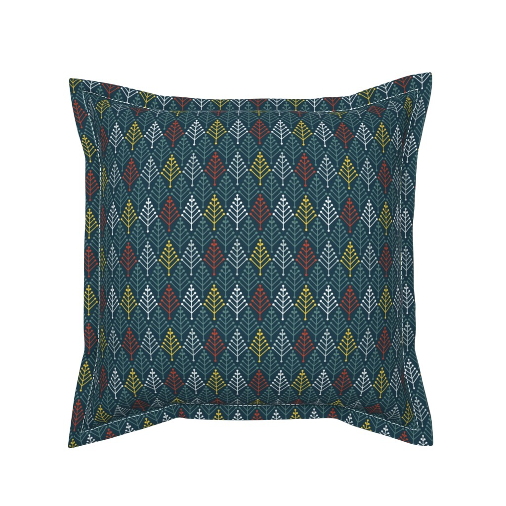 Serama Throw Pillow featuring 07062912 : bobble fir : alpine by sef