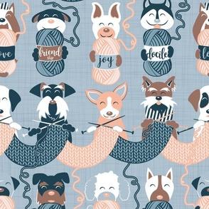 Knitting dog feelings // normal scale