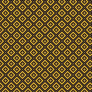 Diamond Crosses Gold on Black