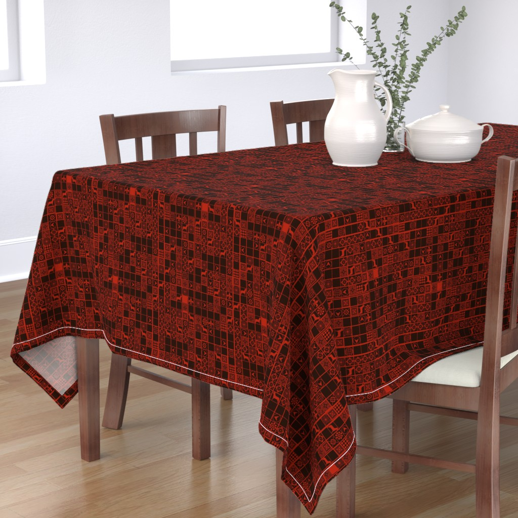 Bantam Rectangular Tablecloth featuring year of the dog2 by scifiwritir