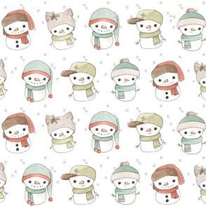 Snowy Snowmen