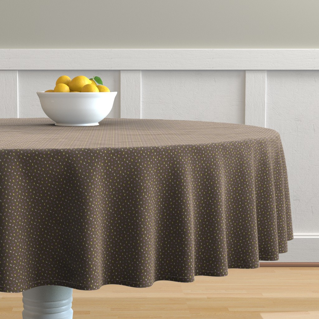 Malay Round Tablecloth featuring Sprinkles and chocolate by petitspixels