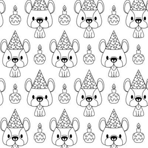 French bulldog birthday party (color me version)