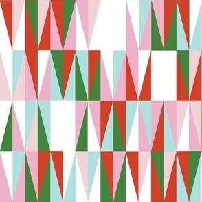 Harrah* (Holiday) || atomic midcentury modern Las Vegas tile triangles geometric diamonds 50s 60s christmas retro