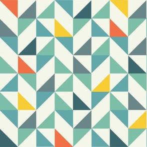 Geometric triangles tiles