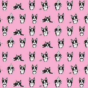 Boston Terriers Pink