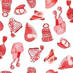Red Winter Hats