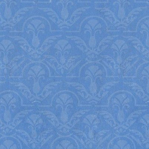 17-05H Texture Blue on blue damask || Home decor  large scale