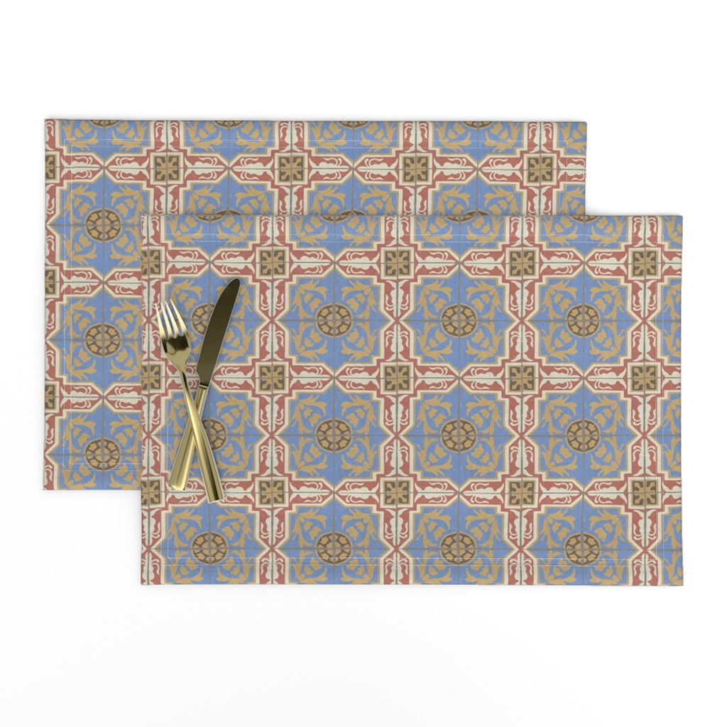 17 05g Distress Textured Spanish Tile On Lamona By