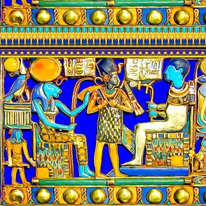 ancient egypt egyptian pharaoh sun cobras snakes gods goddesses king falcons horus lions lionesses hieroglyphics gold lapis lazuli  Sekhmet feline Wadjet