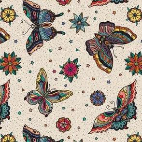Oldschool butterfly tattoo