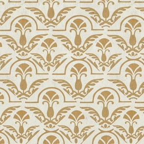 17-05F Distress Autumn Textured Yellow Gold Damask Tile on Cream || Home Decor  Grunge _ Miss Chiff Designs
