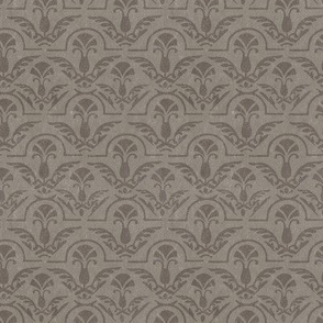 17-05E Autumn Textured Gray Grey Brown Taupe Damask Feather Floral Abstract Home Decor Grunge  _  Miss Chiff Designs