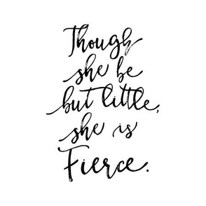 """9"""" quilt block - Though she be but little, she is fierce"""