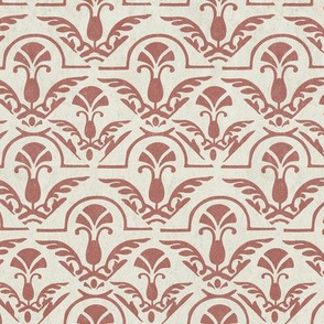 17-05A Distress Autumn Textured Terra Cotta Orange Red Abstract Damask || Tile Home Decor Large Scale Grunge _ Miss chiff Designs