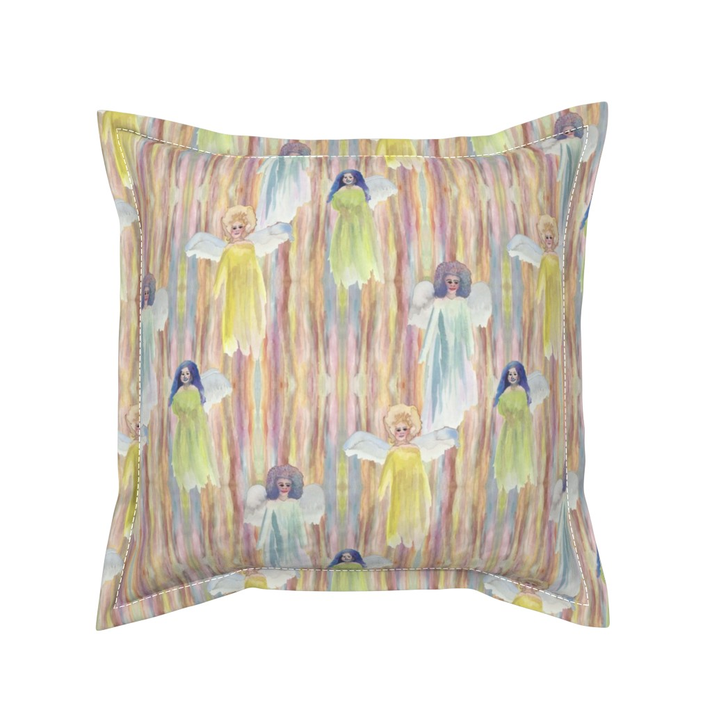 Serama Throw Pillow featuring Opal Fairy Wood by bloomingwyldeiris