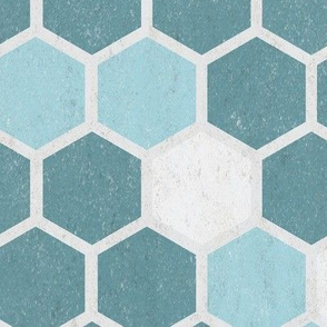 18-7AN Hexagon Texture Nautical