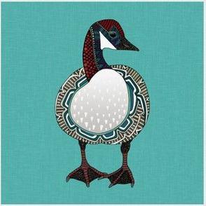 goose turquoise custom 15cm squares