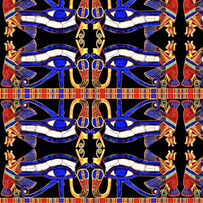 vultures eyes horus cobras kings ancient egypt egyptian myths mythology legends birds snakes pharaoh crowns Nekhbet Wadjet goddesses gods snakes birds colorful
