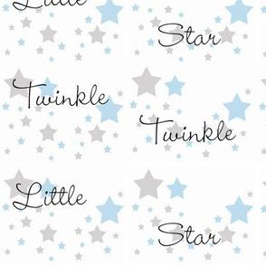 Baby Blue Twinkle Little Star Gray Grey