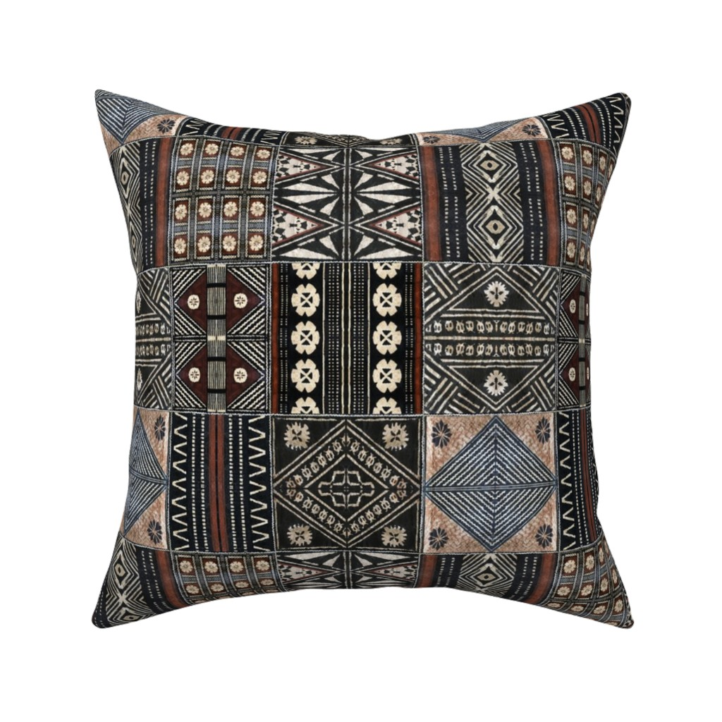 Catalan Throw Pillow featuring fijian tapas combined 1 by hypersphere