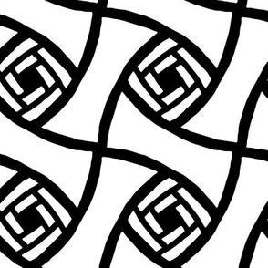 Jumbo Abstract tile black and white || Coloring Book Large Scale