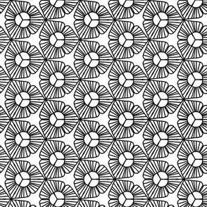 SMALL Black White abstract floral Trillium flower coloring book _ Miss Chiff Designs