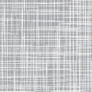 15-11AC Linen Texture Gray Grey White