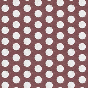 Polka Dot Red Wine White Grunge