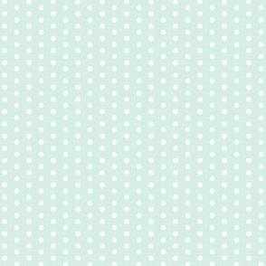 Little Tiny White Polka Dots on Mint Green Spots
