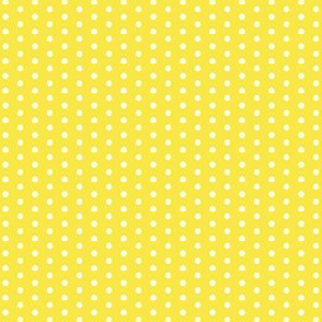 17-07D Tiny White Polka Dot on Lemon Sunshine Yellow || Spots and drops _ Miss Chiff Designs